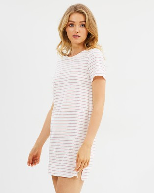 Buy MINKPINK - Cora Tee Dress Red & White -  shop MINKPINK dresses online