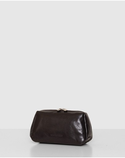 Republic of Florence - The Otto Black Leather Dopp kit