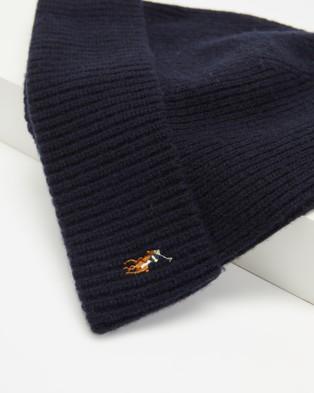 Polo Ralph Lauren Signature Cuff Hat Headwear Hunter Navy