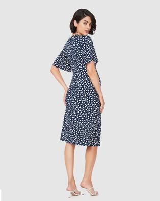 Soon Maternity Tara Flare Dress - Printed Dresses (Navy)