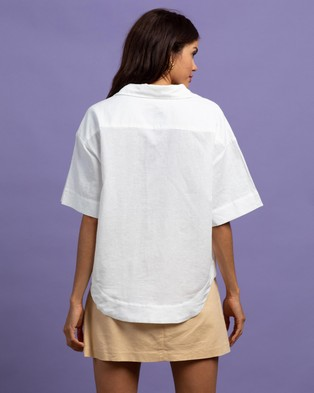 Nude Lucy Clement Linen Shirt - Tops (White)