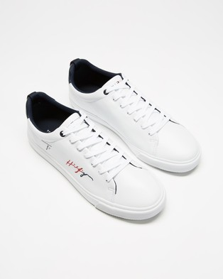 Tommy Hilfiger Signature Sneakers   Men's - Sneakers (White)