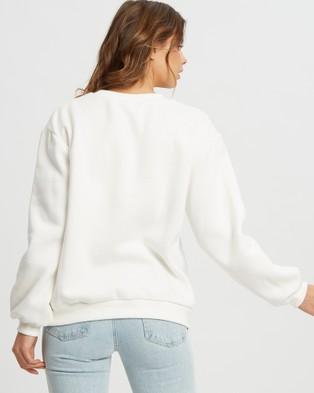 Calli Billie Oversized Sweatshirt - Sweats (White)