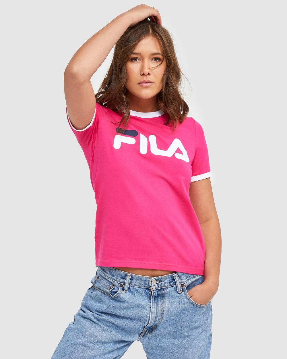 Fila Classic Ringer Tee T-Shirts & Singlets Beetroot Australia