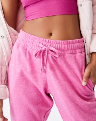 Cotton On Body Active Lifestyle Gym Track Pants Sweatpants Raspberry Marle