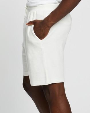 Factorie Reverse Fleece Track Shorts - Shorts (White)