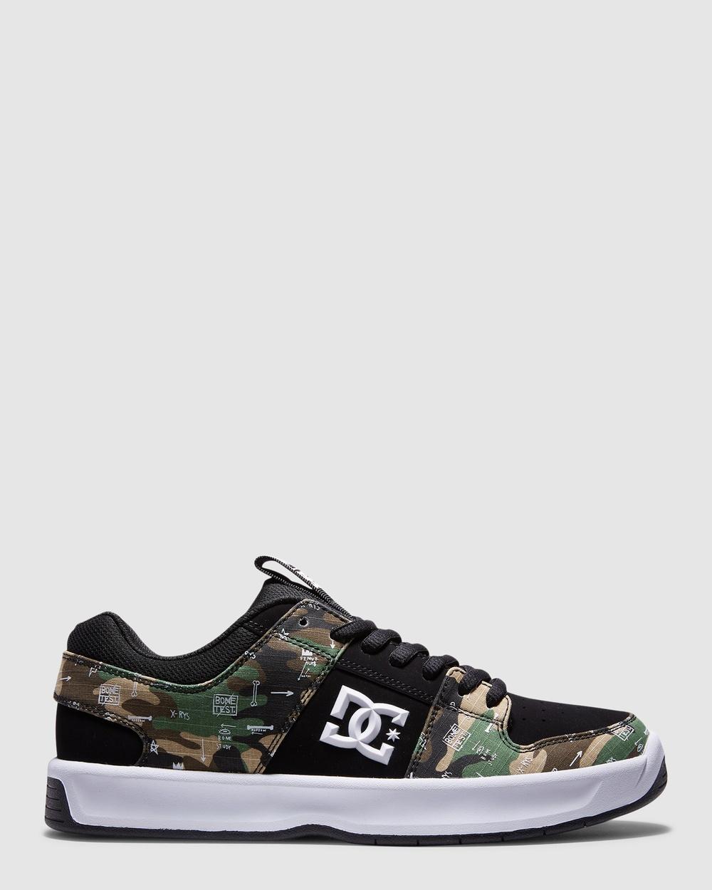 DC Shoes Mens BASQ Lynx Zero Shoe Sneakers Black/Camo Print