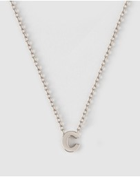 Orelia London - Silver Plated C Initial Necklace