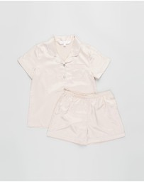 Homebodii - Grace Piping Pyjama Set - Kids-Teens