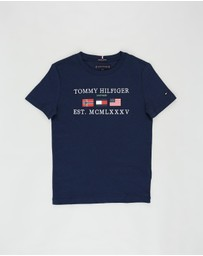Tommy Hilfiger - Flags Alpine SS Tee - Teens