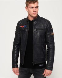 Superdry - Endurance Road Trip Leather Jacket