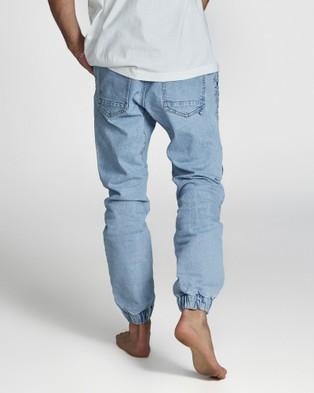 Cotton On - Slim Denim Moto Joggers - Slim (Roadie Blue Moto) Slim Denim Moto Joggers