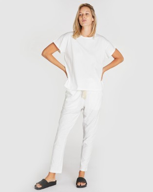 Cloth & Co. Organic Cotton Vintage Tee - Short Sleeve T-Shirts (White)