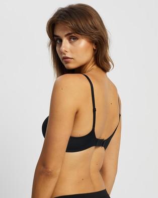 Calvin Klein Perfectly Fit Flex Push Up Plunge Bra - Lingerie (Black)