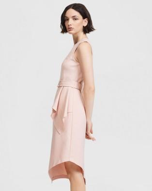 ARIS Layered Snap Belt Dress - Dresses (Pink)
