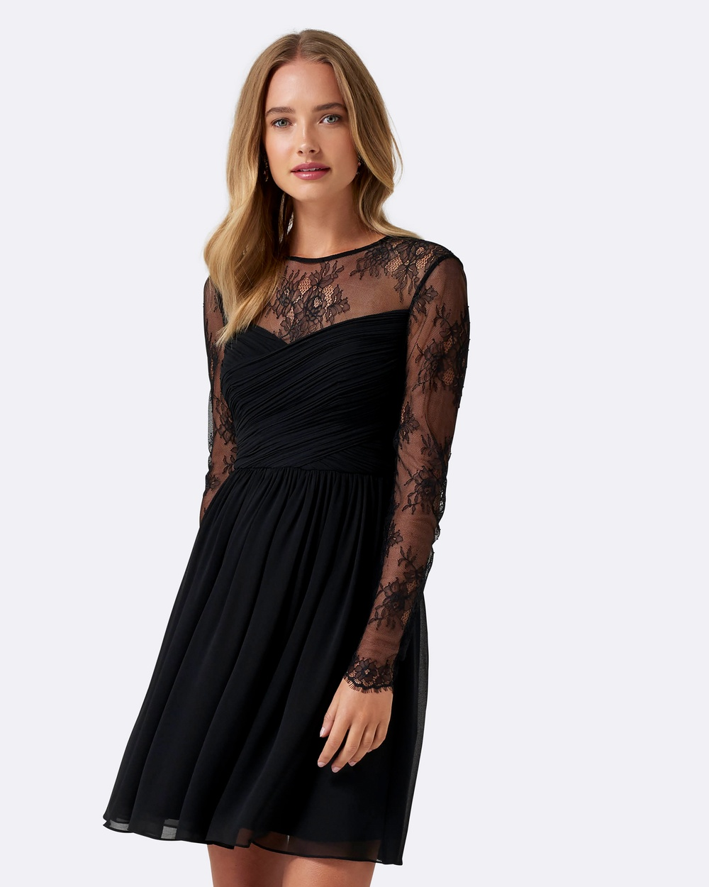 Forever New Lilly Lace Soft Prom Dress Bridesmaid Dresses Black Lilly Lace Soft Prom Dress