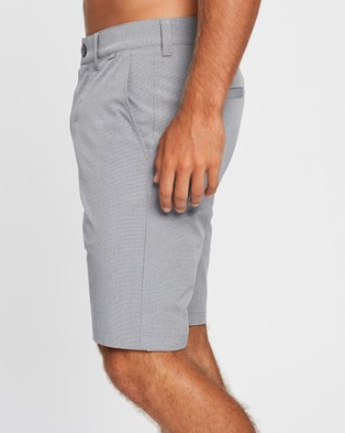 TravisMathew Beck Golf Shorts Chino Light Grey