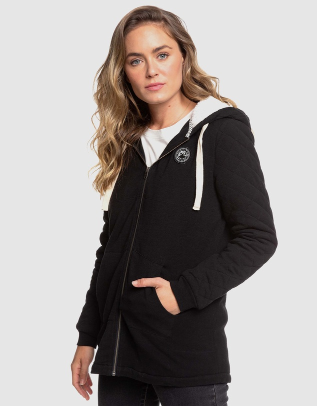 Roxy - Womens Evening Light Longline Sherpa Lined Zip Up Hoodie