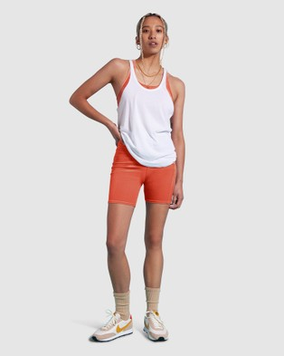 First Base Skinny Tank - Muscle Tops (White)