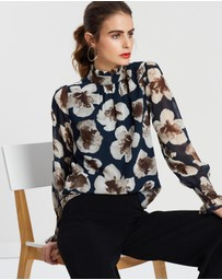 Forcast - Cammy Long Sleeve Blouse
