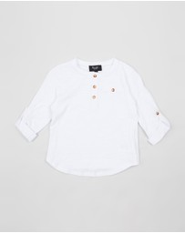 Bardot Junior - Slub Henley Tee - Kids