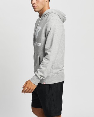 New Balance NB Essentials Stacked Logo Pullover Hoodie - Hoodies (Athletic Grey)