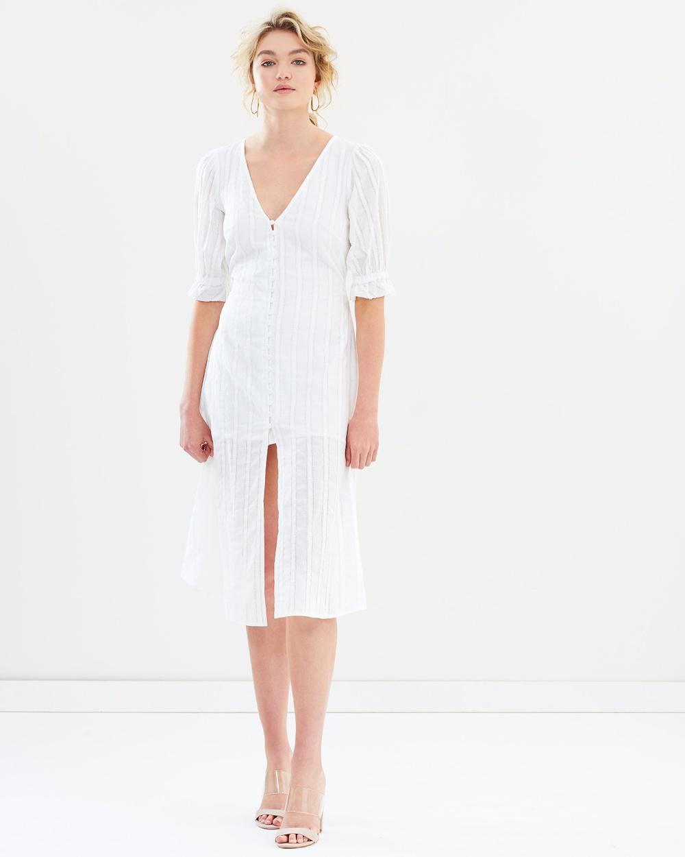 Bec & Bridge Joie Midi Dress Dresses Ivory Joie Midi Dress