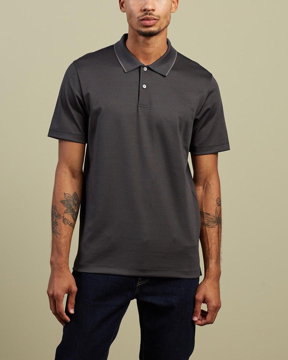 Theory Mens Polo Casual Shirt Short Sleeve XS S Blue Black NEW $89