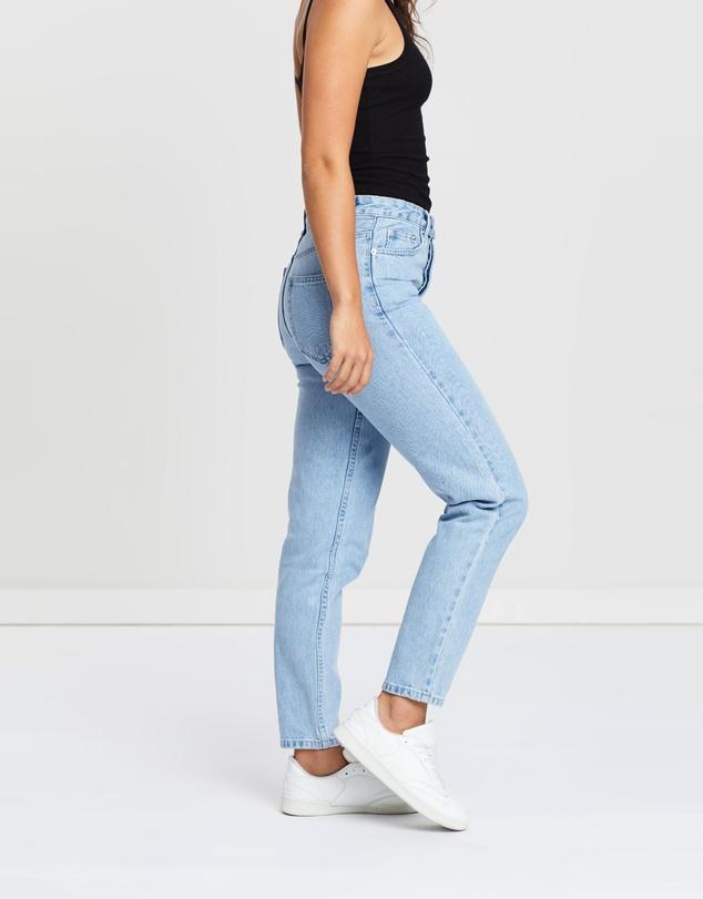 Women High Waisted Rigid Jeans