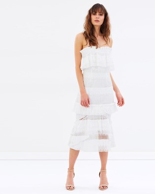 Cooper St – Lace Cascade Dress – Dresses (White)