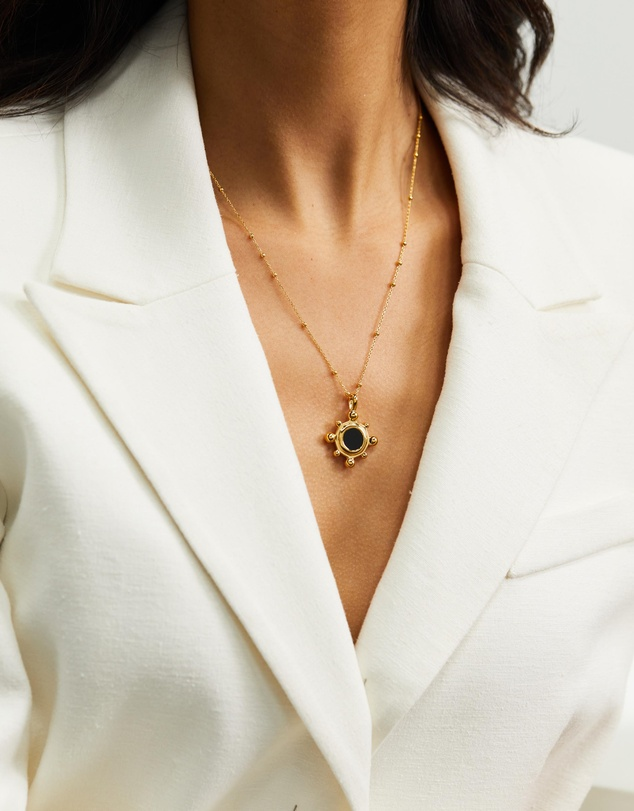 Women Sphere Round Pendant Necklace