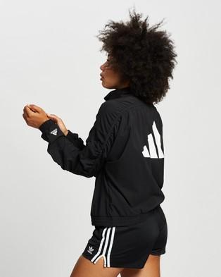 adidas Performance Woven Badge of Sport Jacket - Coats & Jackets (Black & White)