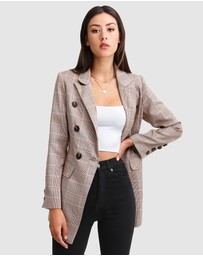 Belle & Bloom - Too Cool For Work Plaid Blazer