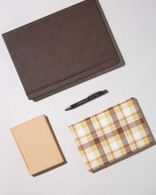 Typo Premium Notebook Gift Set - All Stationery (Tan)