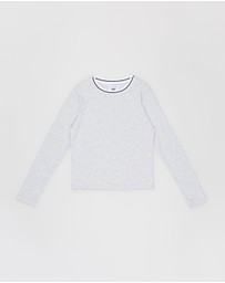 Free by Cotton On - Ribbed Long Sleeve Tee - Teens