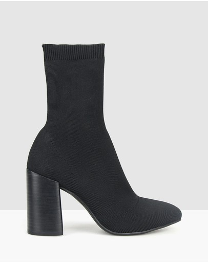 Betts - Swift Block Heel Knit Sock Boots