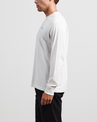 Afends Fight Retro Fit Long Sleeve Tee - T-Shirts & Singlets (Blanc)