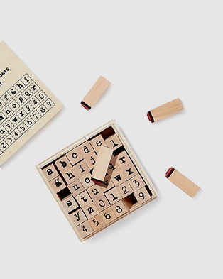 Typo Letters & Numbers Stamp Set - Accessories (Lowercase)
