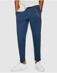 Topman - Tapered Trousers with Chain
