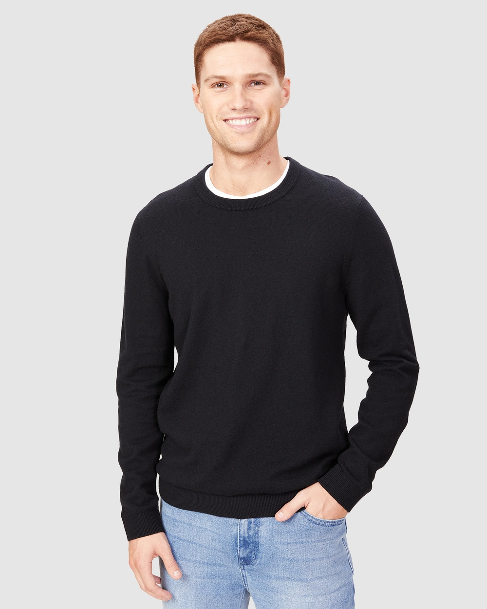 French Connection Merino Blend Knit Jumpers & Cardigans BLACK Australia