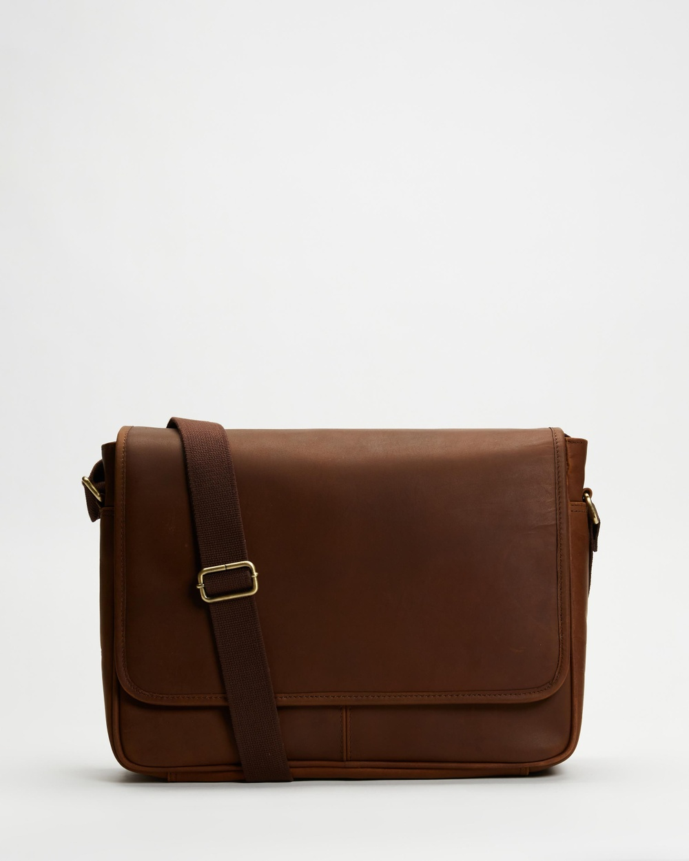 Double Oak Mills Leather Messenger Bags Brown