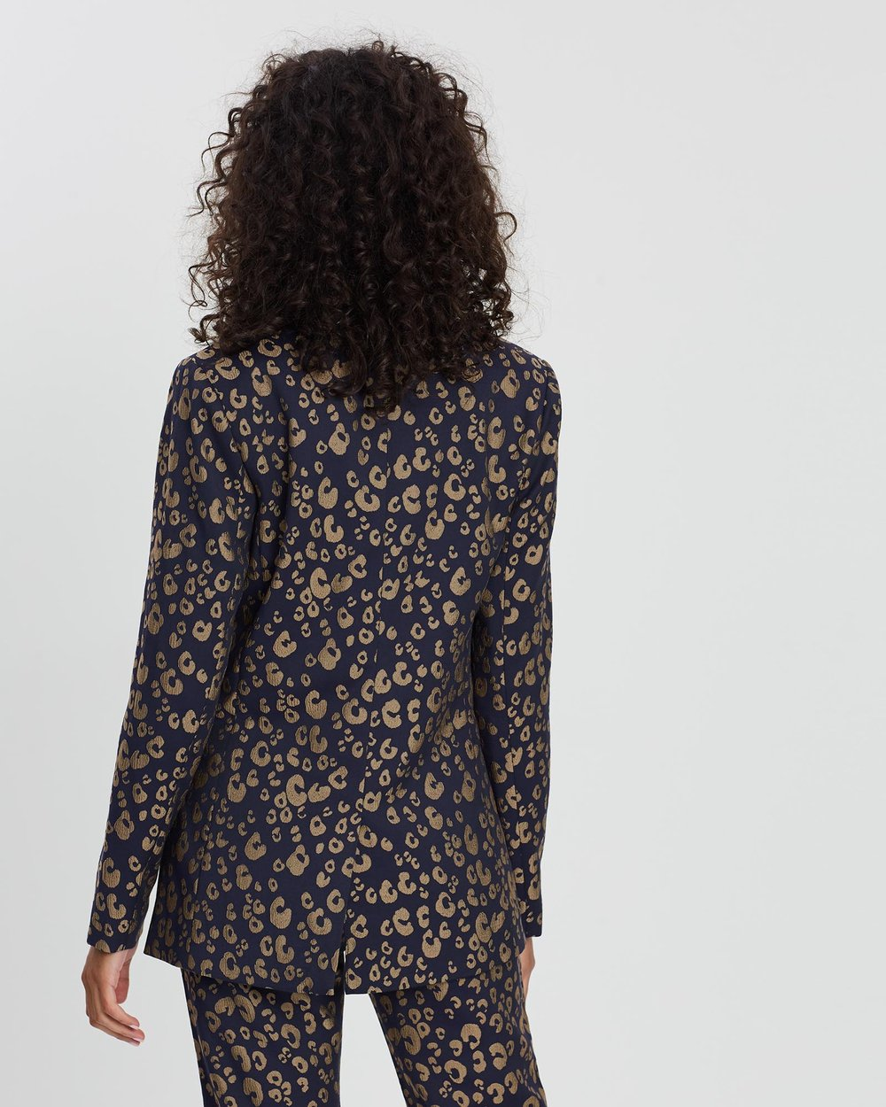 sale uk hot products best selling Leopard Print Jacquard Blazer by Scotch & Soda Online | THE ...