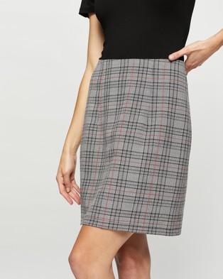 SPURR Zoe Check Mini Skirt - Pencil skirts (Check)