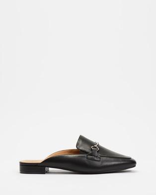 Betsy Horsebit Mules - Flats (Black)