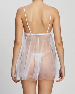 La Perla Miss Sunshine Babydoll & G String Set - Sleepwear & Loungewear (White)