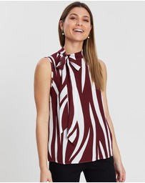 Privilege - Sleeveless Tie Top