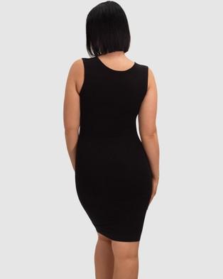 B Free Intimate Apparel Maternity Bamboo Everyday Dress - Dresses (Black)