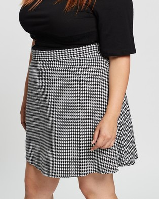 Atmos&Here Curvy Kayla Mini Skirt Skirts Houndstooth