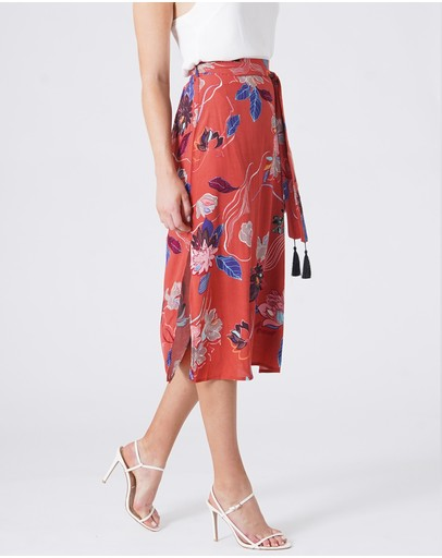 Amelius Desert Merlot Skirt Multi