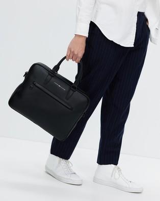 Tommy Hilfiger - Metro Slim Computer Bag - Bags (Black) Metro Slim Computer Bag
